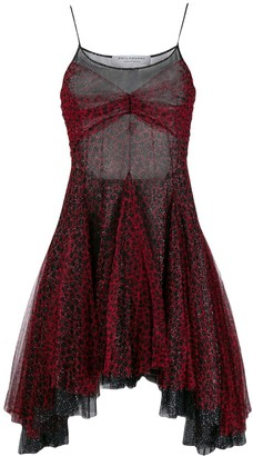Philosophy di Lorenzo Serafini layered mesh mini dress