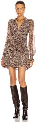 Jonathan Simkhai Joya Mini Dress in Camel Leopard   FWRD