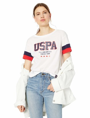 U.S. Polo Assn. Women's Graphic Crop T-Shirt