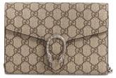 Gucci Dionysus Gg Supreme Canvas Wallet On A Chain - Beige