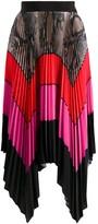MSGM colour-block pleated maxi skirt