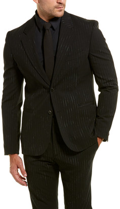 Versace 2Pc Wool-Blend Suit With Flat Pant