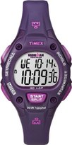 Timex Women's Purple Resin Band & Case Acrylic Crystal Quartz Dial Digital Watch T5K756
