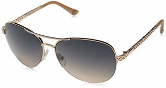 Jessica Simpson J5581 Women's Metal Aviator Sunglasses with Rope Designed Temple and 100% UV Protection 60 mm