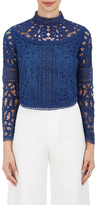 Sea Batternberg Lace Top
