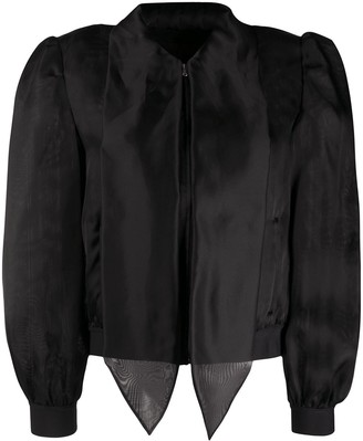 Moschino Pussy-Bow Puff-Sleeve Blouse
