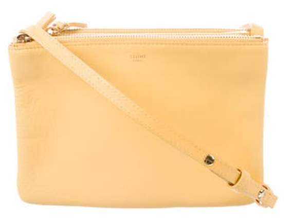 Celine Céline Small Trio Crossbody Bag Yellow Céline Small Trio Crossbody Bag