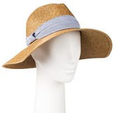 Merona Women's Oversized Panama Hat with Blue Band Tan