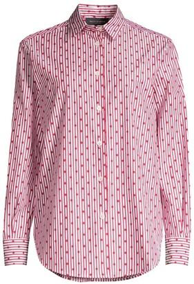 Piazza Sempione Pinstripe & Polka-Dot Button-Down Shirt