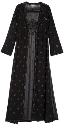 Ramy Brook Alister Embroidered Maxi Duster