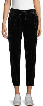 Betsey Johnson Drawstring Velvet Pants