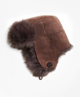 Brooks Brothers Shearling Trapper Hat