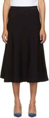 Valentino Black Logo Skirt