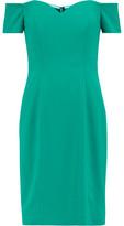 Badgley Mischka Off-The-Shoulder Cady Dress