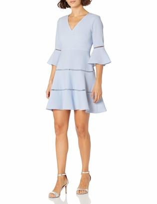 Eliza J Women's V-Neck Bell Sleeve Fit & Flare (Regular & Petite)
