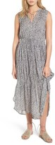 James Perse Women's Floral Pleated Midi Dress