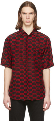424 Red and Black Checkered Short Sleeve Shirt
