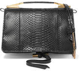 Stella McCartney Flo Python-effect Faux Leather Shoulder Bag - Black