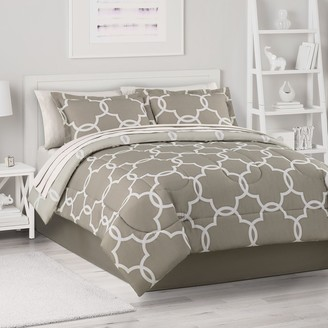 The Big One Neutral Trellis Comforter Set with Sheets