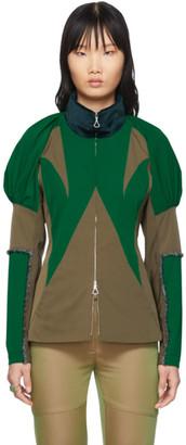KIKO KOSTADINOV Green Shoulder Shell Jacket