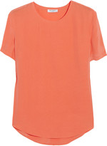 Riley washed-silk T-shirt