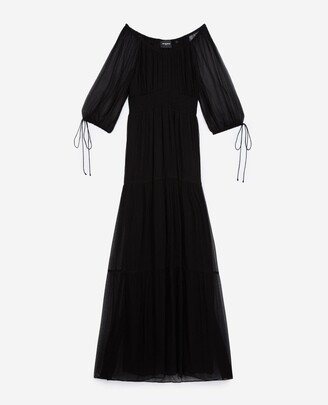 The Kooples Long black dress with smocking