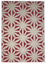 Flower Red 5x8 Rug