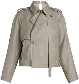 Rokh Cropped Trench Jacket