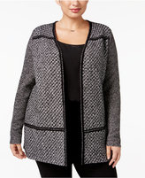 Charter Club Plus Size Tweed Duster Cardigan, Only at Macy's