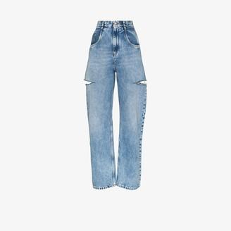Maison Margiela Side Slash Straight Leg Jeans