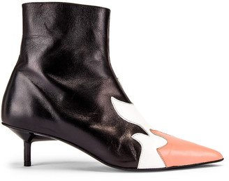 Marques Almeida Marques ' Almeida Pointy Kitten Heel Flame Boot in Black, White & Pink | FWRD