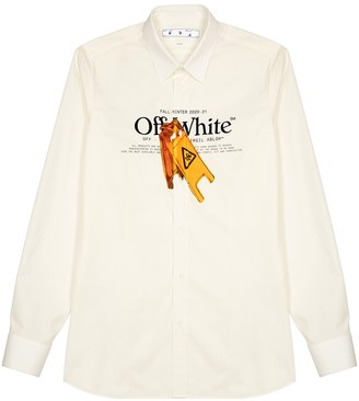 Off-White Pascal Wet Floor printed cotton-blend shirt