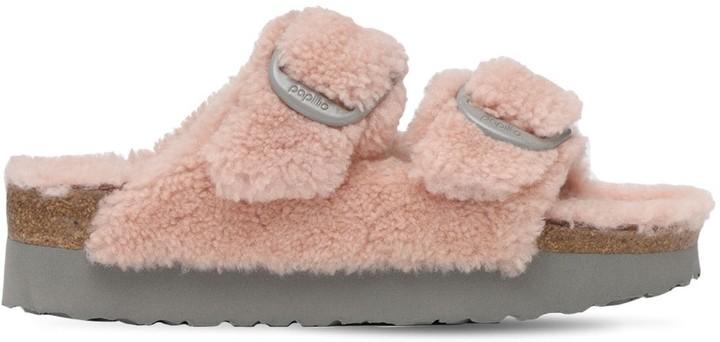 Birkenstock Papillo Arizona Teddy Shearling Sandals