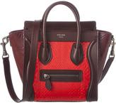 Celine Nano Luggage Python Shoulder Bag