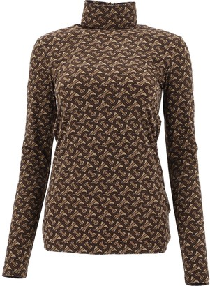 Burberry Monogram Printed Turtleneck Top