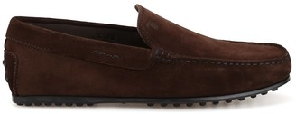 Tod's City Gommino Driving Suede Loafers