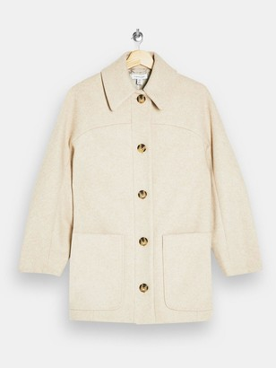 Topshop Oregon Shacket -Oat