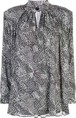 Proenza Schouler Long-Sleeved Printed Jersey Top