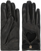 Gucci Heart cut-out driving gloves - women - Silk/Cotton/Lamb Skin/Viscose - 6.5