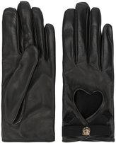 Gucci Heart cut-out driving gloves - women - Silk/Cotton/Lamb Skin/Viscose - 7