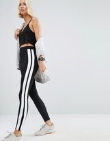 Asos Premium Scuba Leggings with Contrast Side Stripe