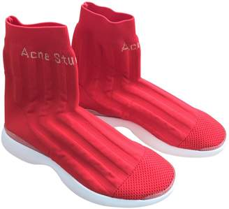 Acne Studios Bolzter Red Cloth Trainers