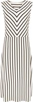 Jaeger Breton Stripe Fit And Flare Dress