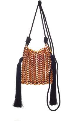 Carolina Santo Domingo Luisella Tassled Natural Resin Shoulder Bag