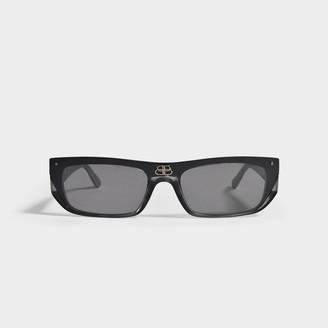 Balenciaga Sunglasses In Ruthenium Injection Bb0080S