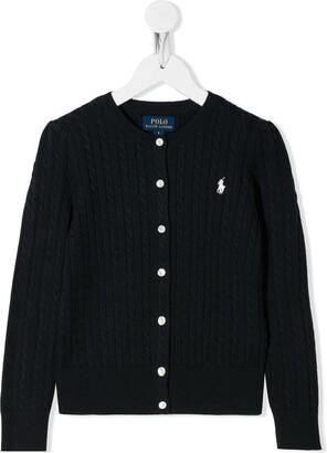 Ralph Lauren Kids Cable Knit Cotton Cardigan