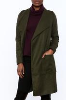 re:named Olive Open Coat