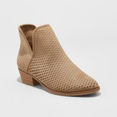 Merona Women's Lucile Laser Cut Out Booties