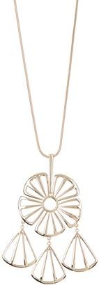 trina Trina Turk Cutout Flower Pendant Necklace