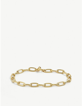 Tilly Sveaas Ltd Oval 23ct gold-plated sterling silver linked choker